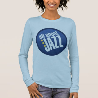 All About Jazz Ladies Fitted Long Sleeve T Shirt