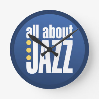 All About Jazz Wall Clock