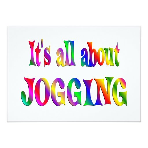 All About Jogging 5x7 Paper Invitation Card