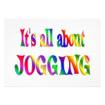 All About Jogging Personalized Invitations