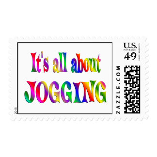 All About Jogging Postage Stamp