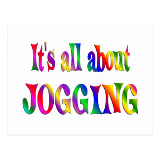 All About Jogging Postcard