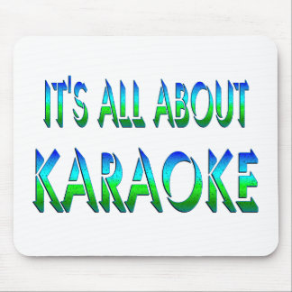 All About Karaoke Mouse Pad