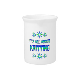 All About Knitting Beverage Pitcher
