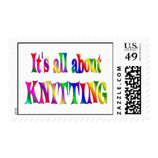 All About Knitting Postage Stamps