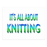 All About Knitting Postcard