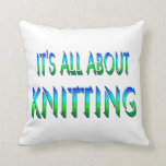 All About Knitting Throw Pillows