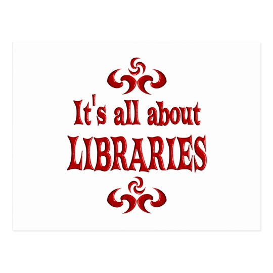 ALL ABOUT LIBRARIES POSTCARD