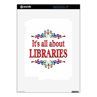 All About Libraries Decal For The iPad 2