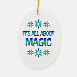 All About Magic Ceramic Ornament