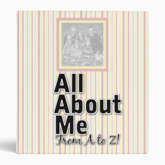 All About Me From A To Z Binder (Blue)