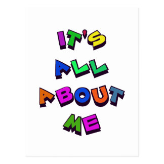 ALL ABOUT ME POSTCARD