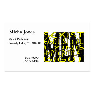 All About Men Double-Sided Standard Business Cards (Pack Of 100)