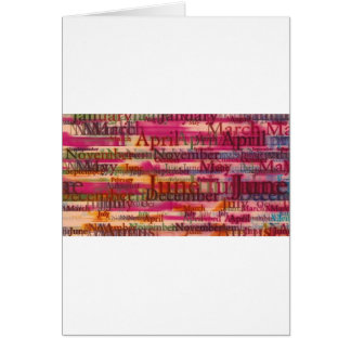 All About Month Greeting Card