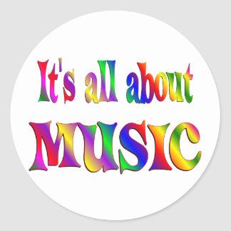All About Music Classic Round Sticker