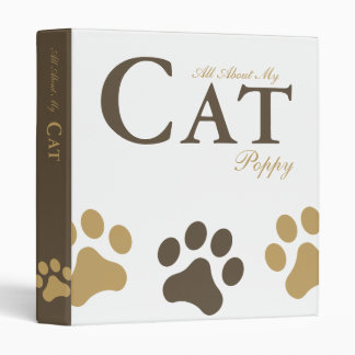 All About My Cat Personalized Binder