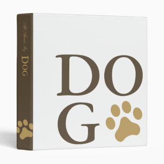 All About My Dog Binder
