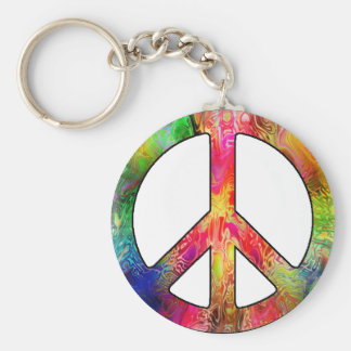 All About Peace Basic Round Button Keychain
