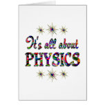 ALL ABOUT PHYSICS GREETING CARDS