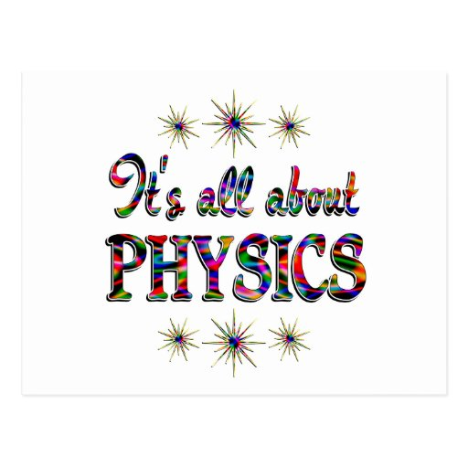ALL ABOUT PHYSICS POSTCARD
