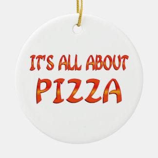 All About Pizza Ceramic Ornament