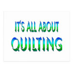 All About Quilting Postcard