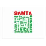 """All About Santa"" Postcard"