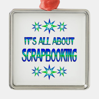 All About Scrapbooking Metal Ornament