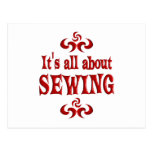 ALL ABOUT SEWING POST CARD