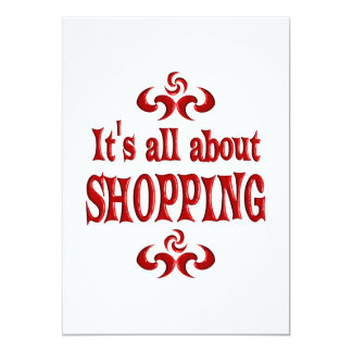 ALL ABOUT SHOPPING 5X7 PAPER INVITATION CARD