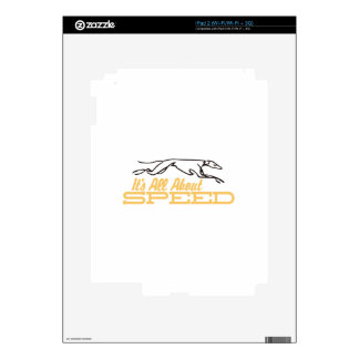 All About Speed iPad 2 Skins