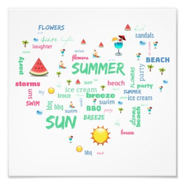 Beach Themed All about summer photo print
