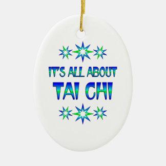 All About Tai Chi Ceramic Ornament