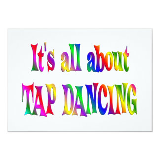 All About Tap Dancing Card