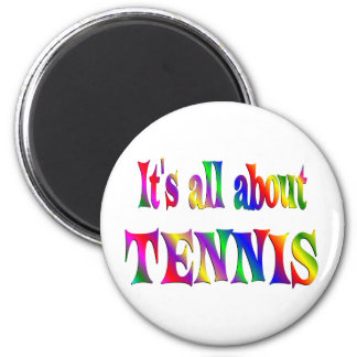All About Tennis Fridge Magnets