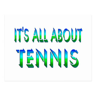 All About Tennis Postcard