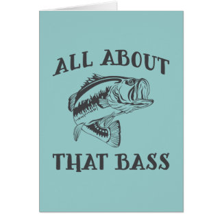 All About That Bass Greeting Card