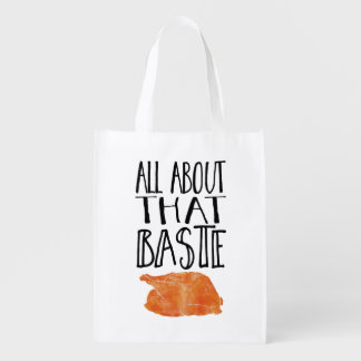 All About That Baste Thanksgiving Turkey Grocery Bag