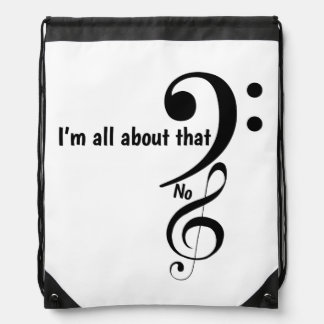 All about the bass clef drawstring bag