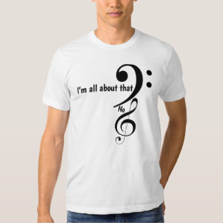 All about the bass clef tee shirt