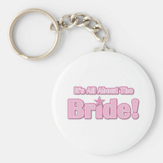 All About The Bride Basic Round Button Keychain