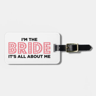 All About the Bride Pink Luggage Tag