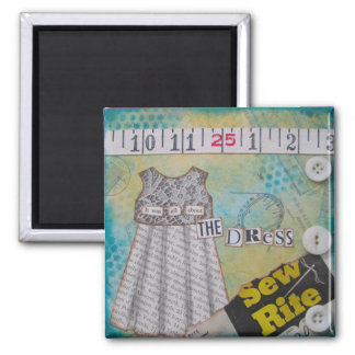 """""""All About the Dress"""" Art Magnet by Nancy Lefko"""
