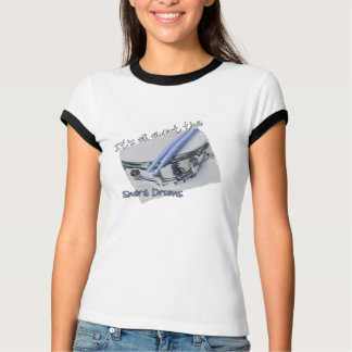 All About the Snare Drums Ladies Ringer TShirt