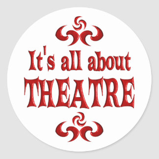 ALL ABOUT THEATRE CLASSIC ROUND STICKER