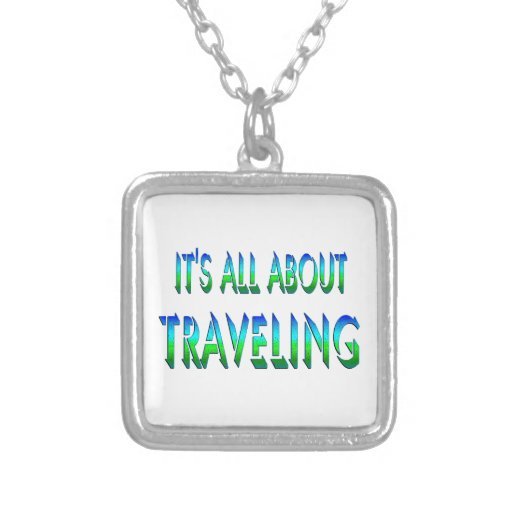 All About Traveling Personalized Necklace
