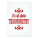 ALL ABOUT TRIGONOMETRY CUSTOM INVITATIONS