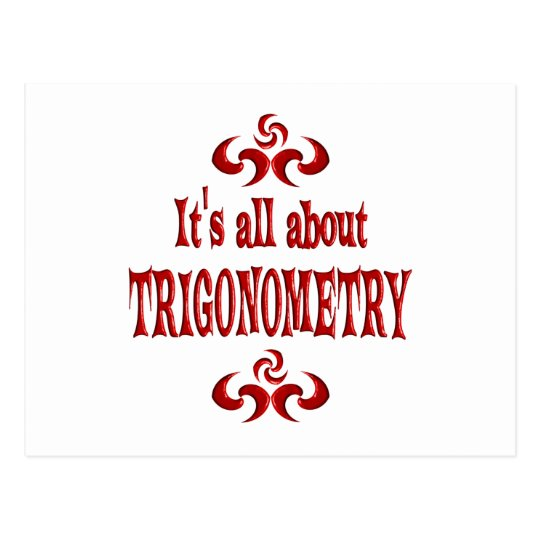 ALL ABOUT TRIGONOMETRY POSTCARD