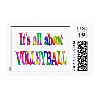All About Volleyball Postage Stamp