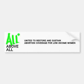 All* Above All logo Bumper Stickers